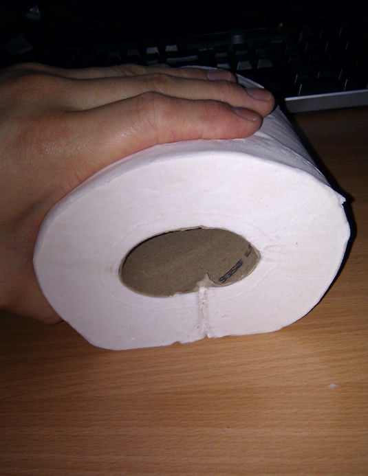 Flatten the toilet roll